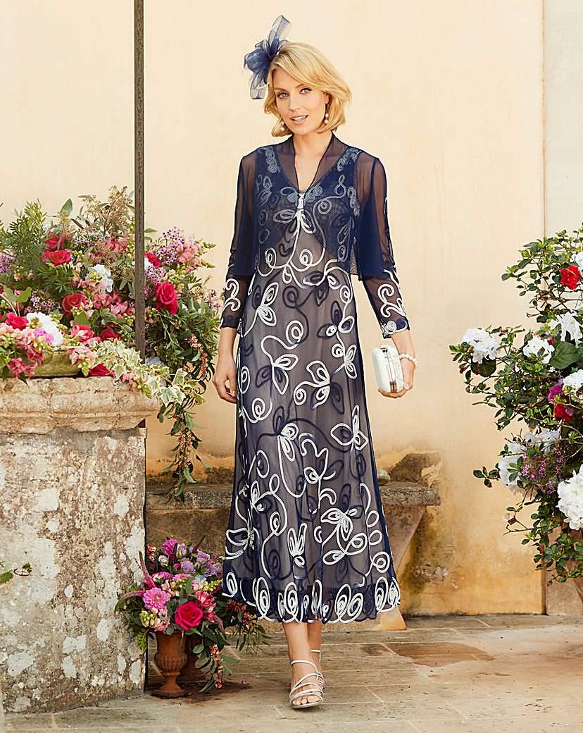 Vintage Inspired Cocktail Dresses, Party Dresses Nightingales Cornelli Dress And Shrug £130.00 AT vintagedancer.com