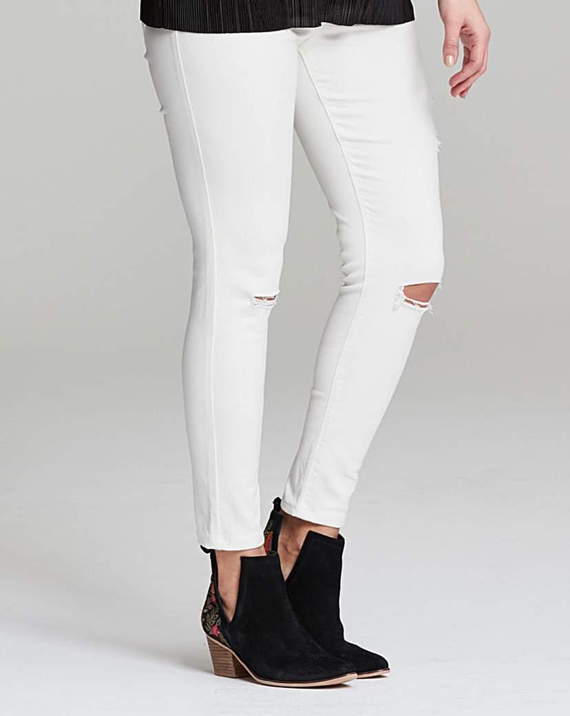 Chloe Ripped Knee Skinny Jeans Long.