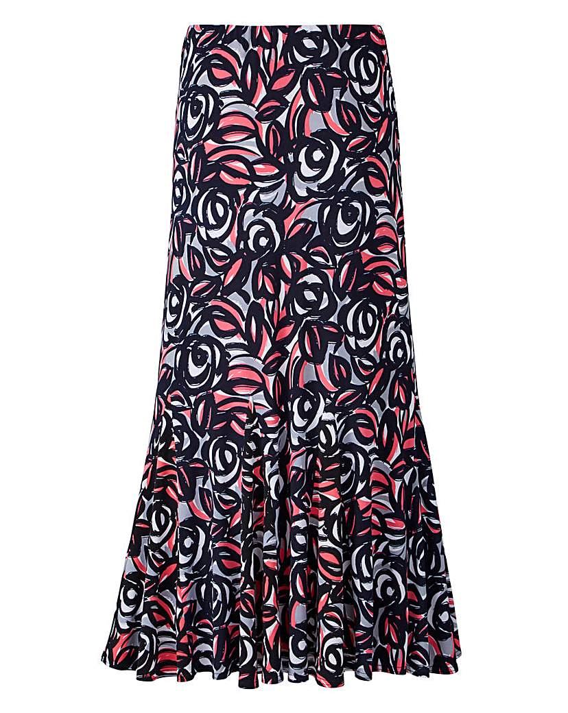 Nightingales Print ITY Skirt 27in