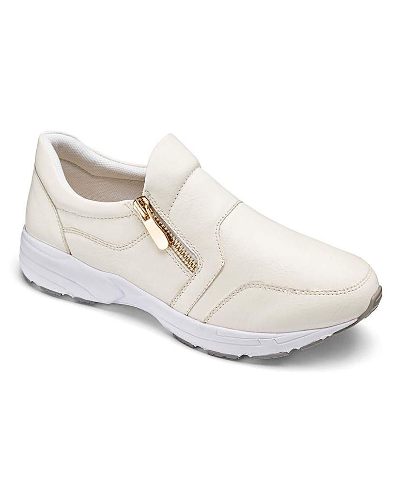 Image of Heavenly Soles Zip Trainer Shoes E Fit