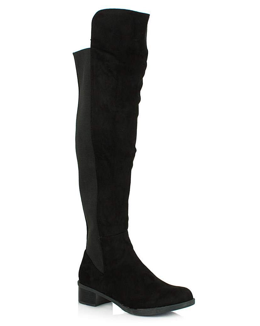 Daniel Wyedale Black Over The Knee Boot