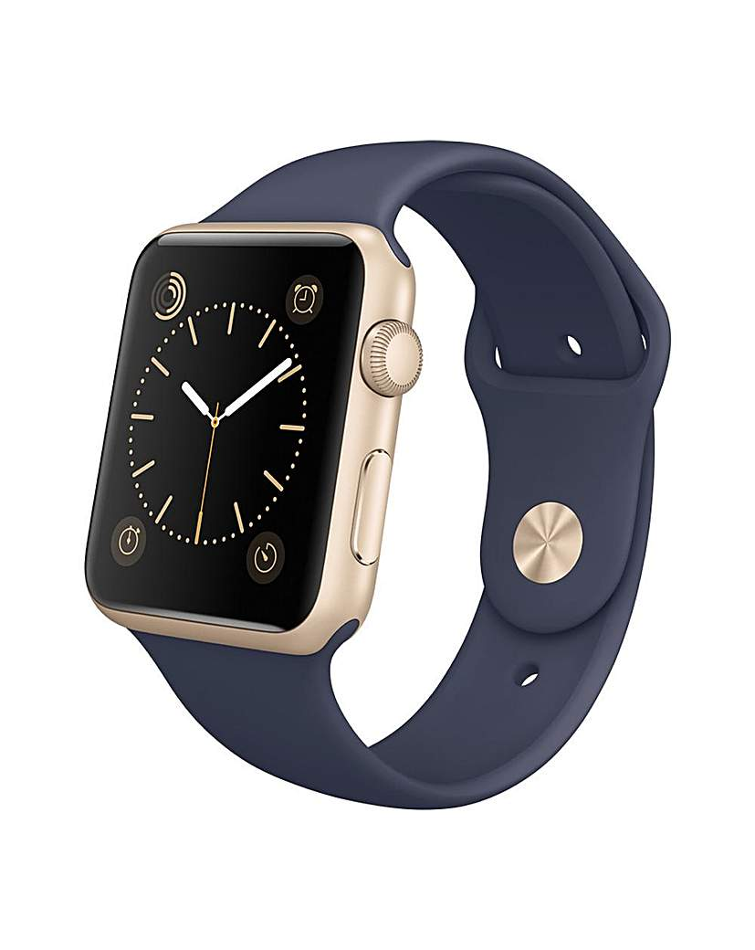 Image of Apple Sport 42mm Gold Midnight Blue