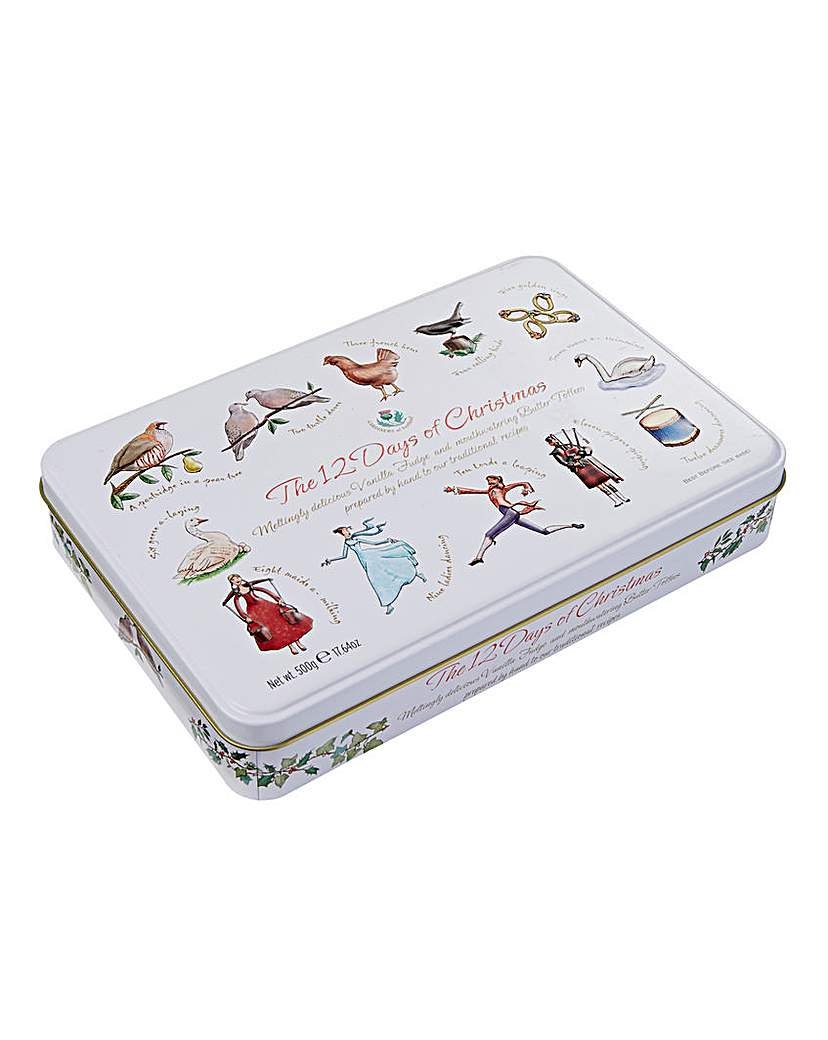Image of 12 Days of Xmas Tin of Fudge & Toffees