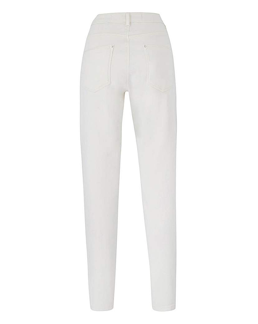 Ecru Sadie Relaxed Slim Leg Jeans Long