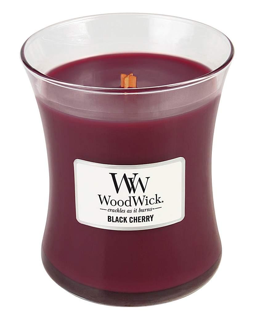 Image of WoodWick Black Cherry Medium Jar