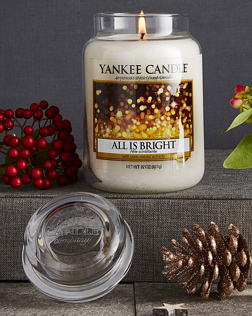 Image of Yankee Candle All Is Bright Large Jar