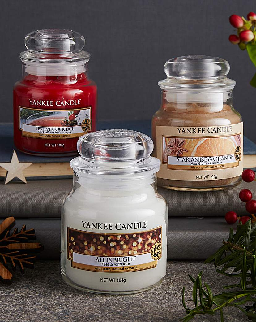 Image of Yankee Candle 3 Holiday Party Small Jars