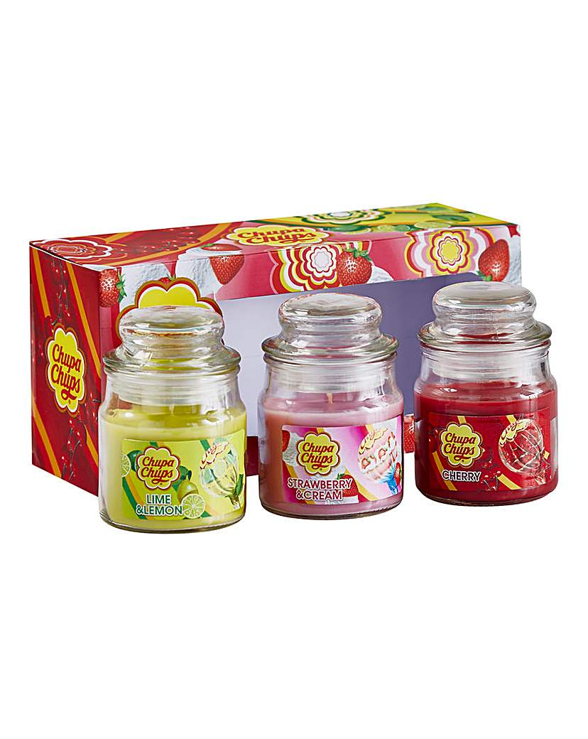 Image of Chupa Chups Jar Candles - Set of 3