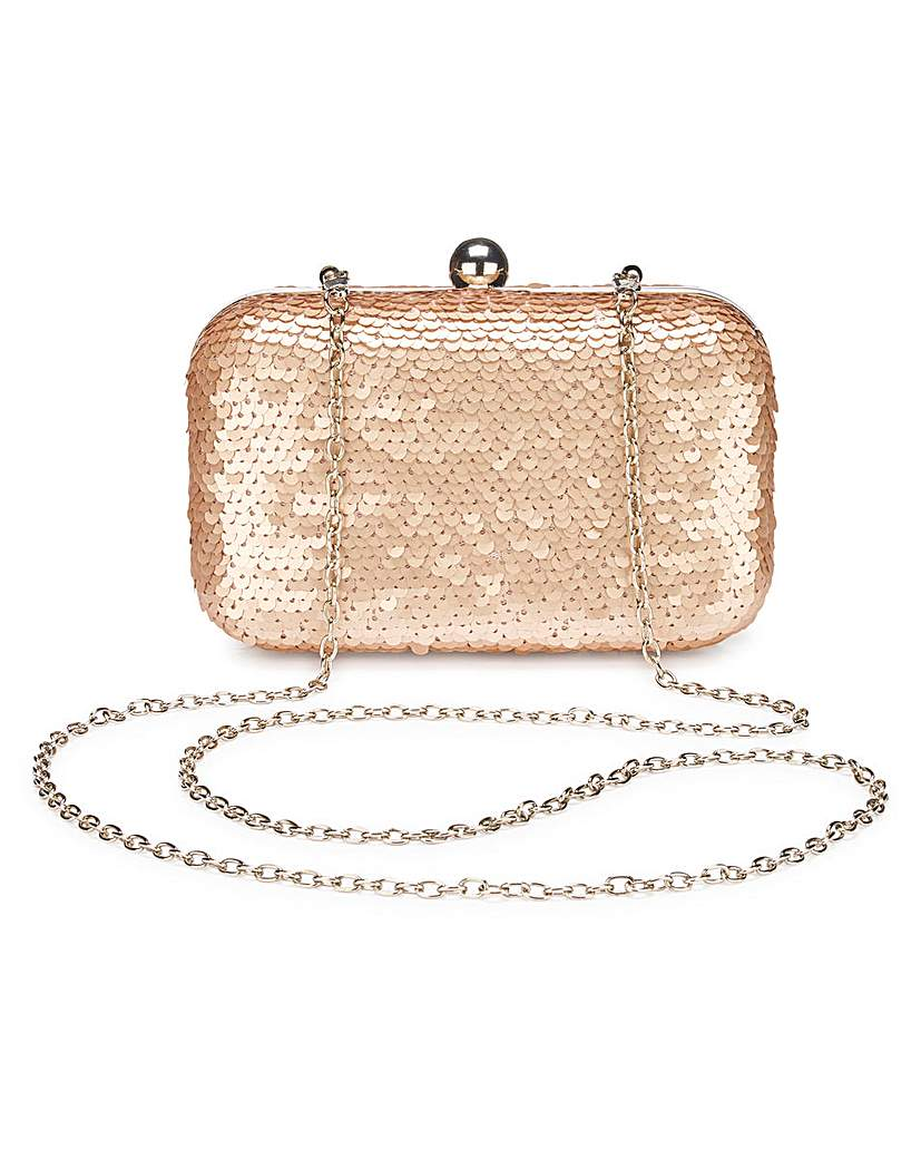 Image of Alice Champagne Sequin Clutch Bag