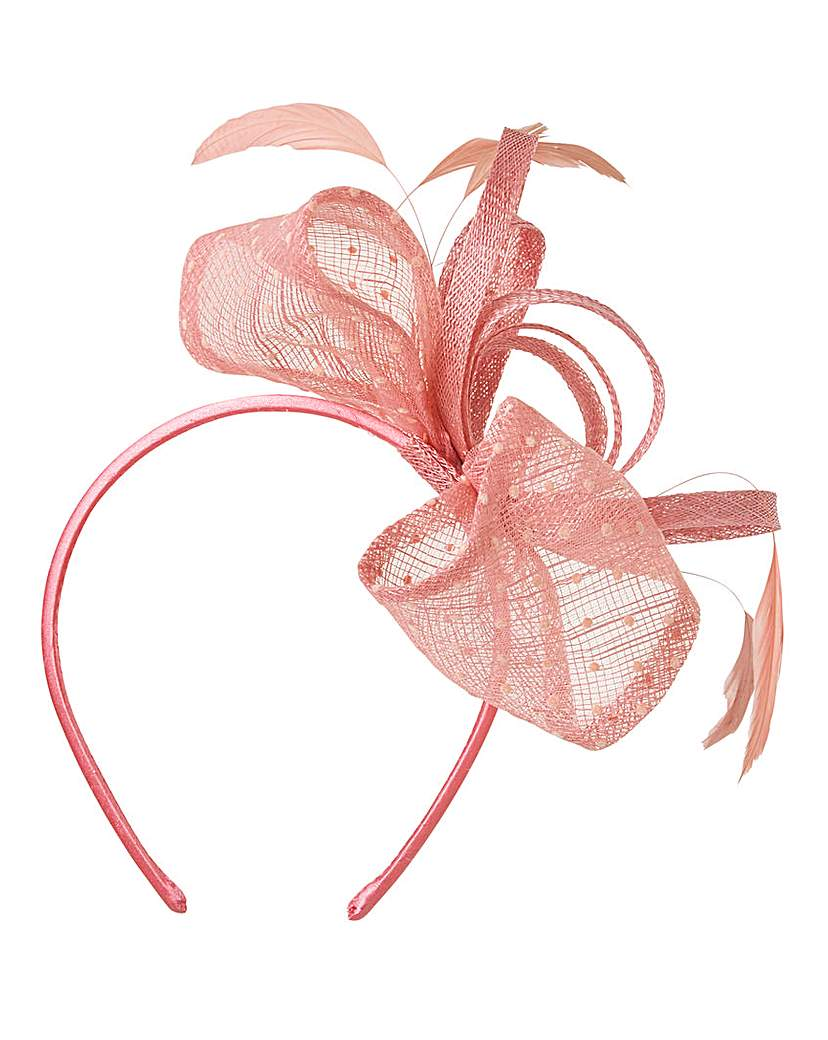 Image of Headband Fascinator with Spotted Mesh