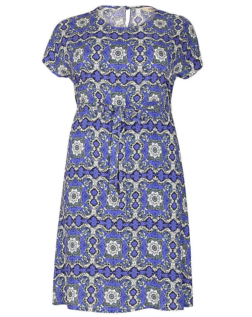 emily Abstract Split Dress