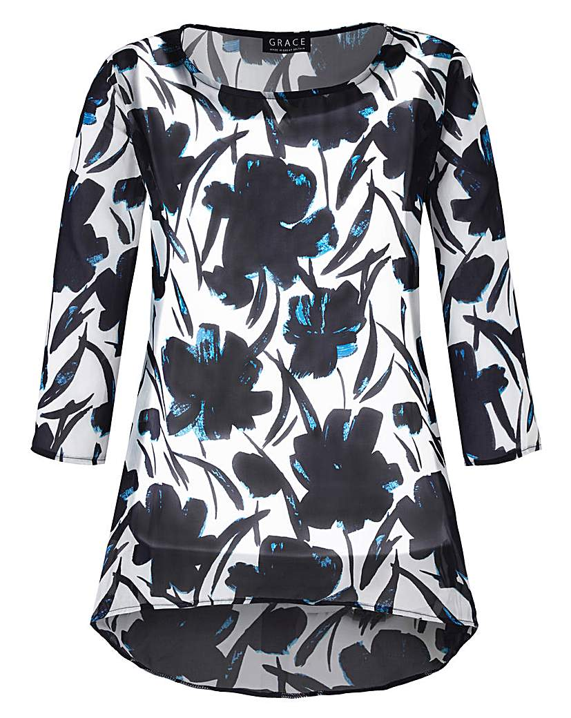 Grace Made in Britain chiffon tunic