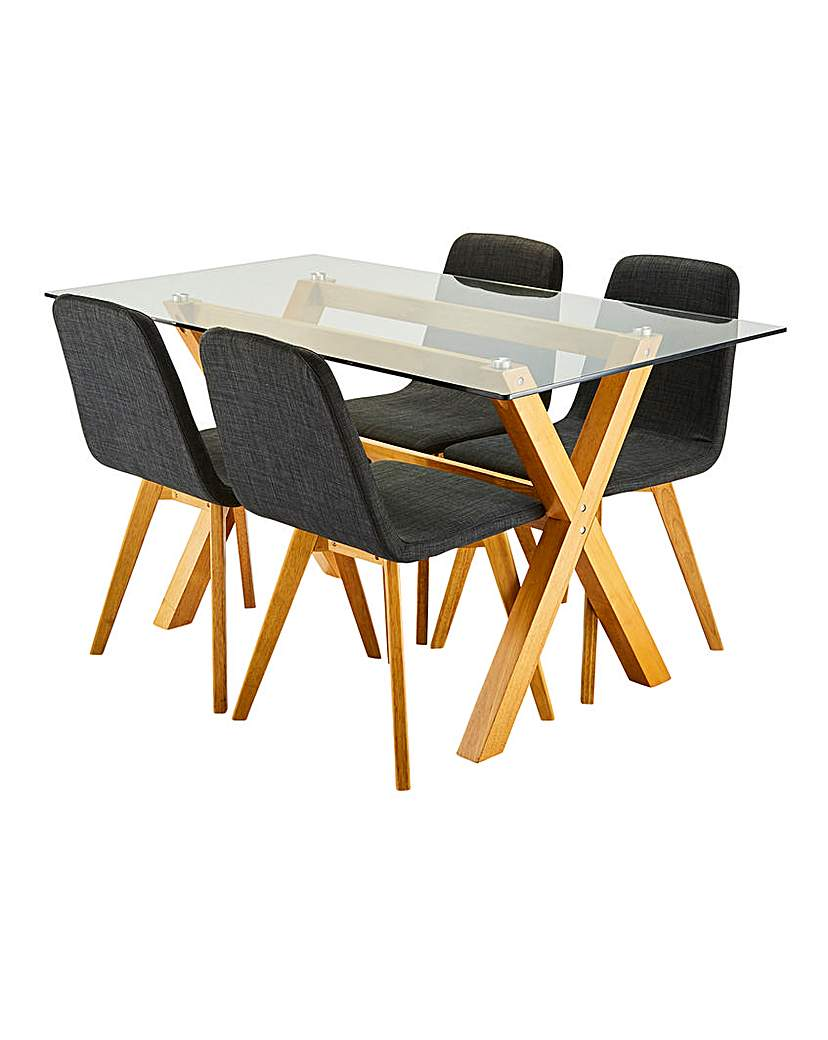 Image of Albany Rectangular Table 4 Enzo Chairs