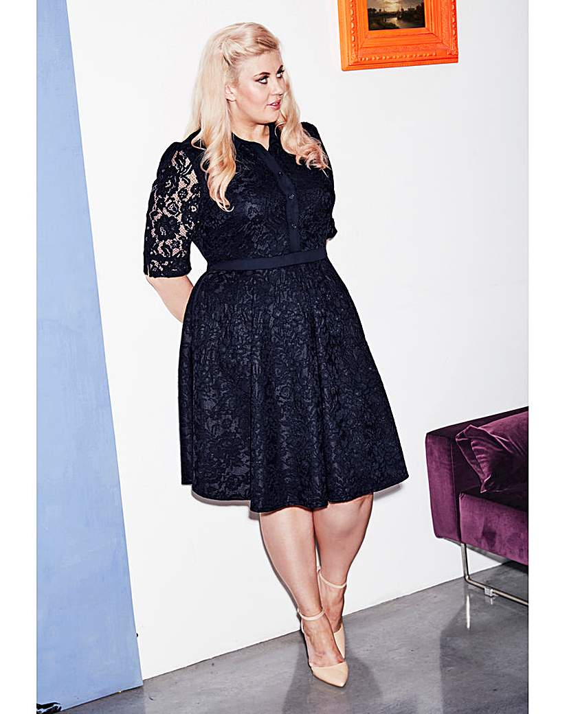 Sprinkle of Glitter Lace Dress