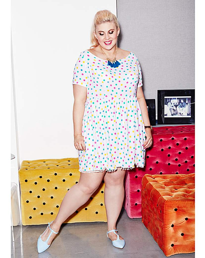 Sprinkle of Glitter Polka Dot Dress