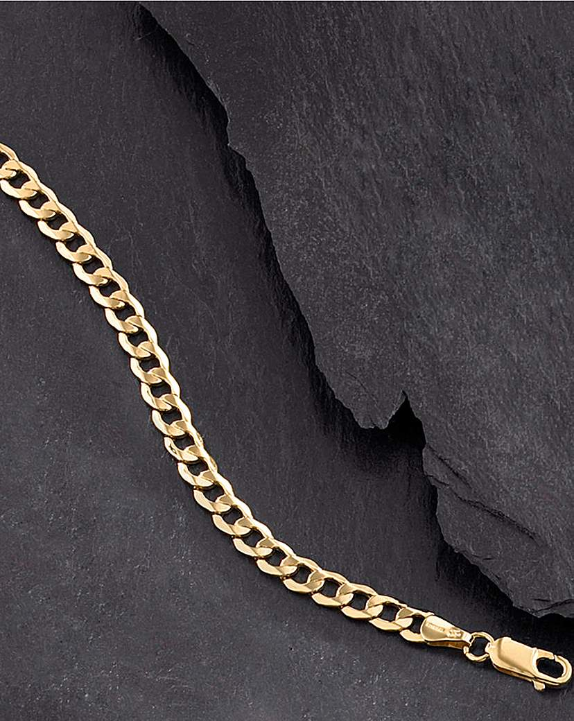 Gent's 9ct Gold 1/4oz Hollow Curb Chain