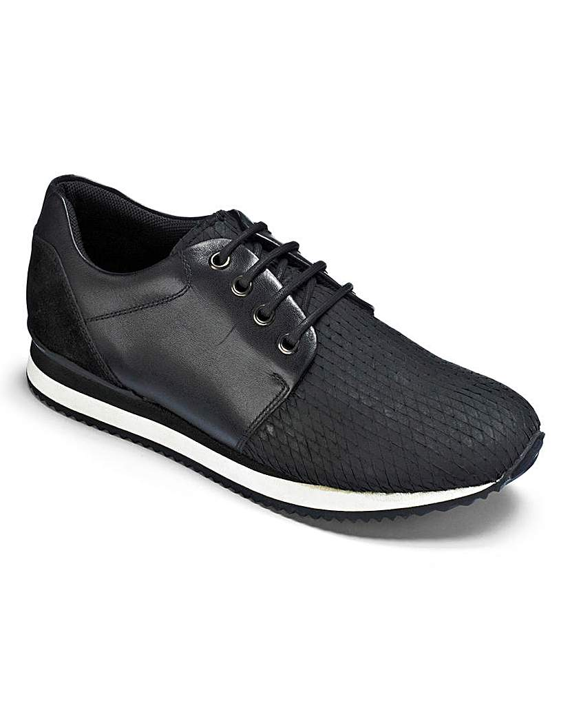 Image of Be Active Luxe Leather Lace Trainers D