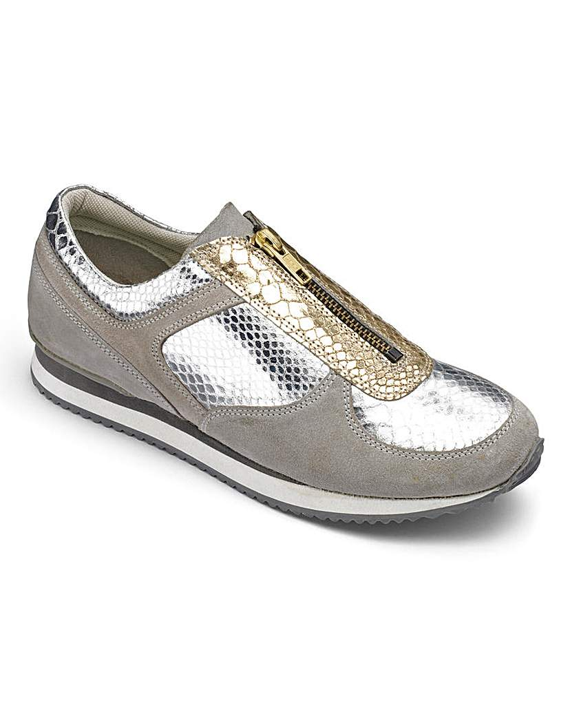 Be Active Luxe Leather Zip Trainers D