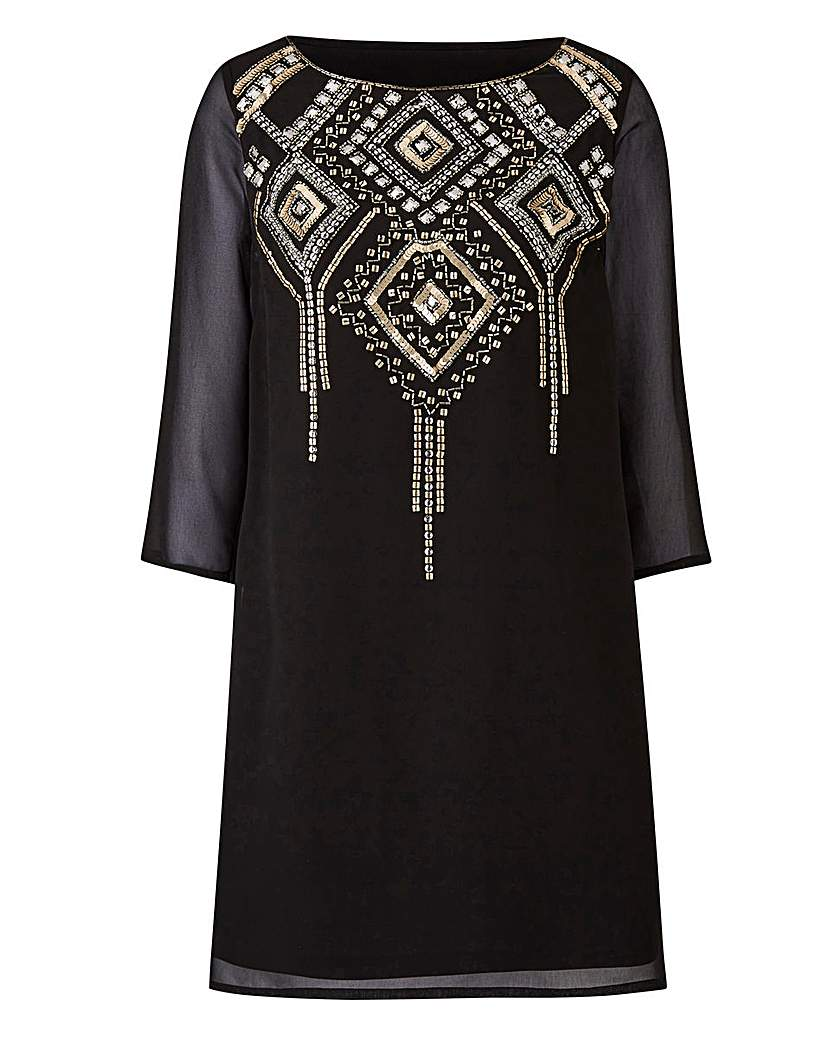 1920s Style Blouses, Tops, Sweaters, Cardigans Joanna Hope Embellished Tunic £75.00 AT vintagedancer.com