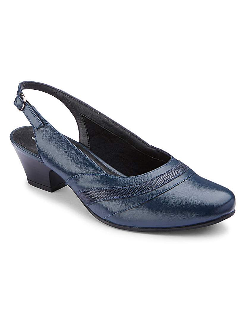Image of Orthopedic Slingback Court Shoes EE Fit