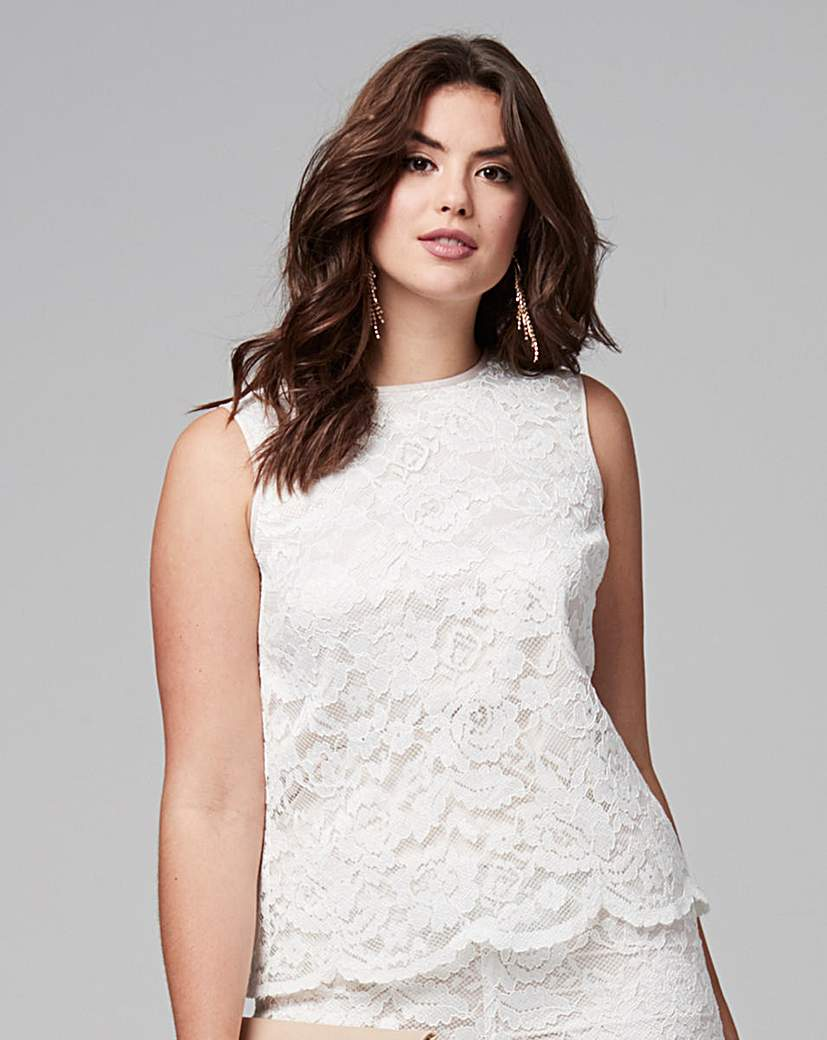 Joanna Hope Lace Shell Top.