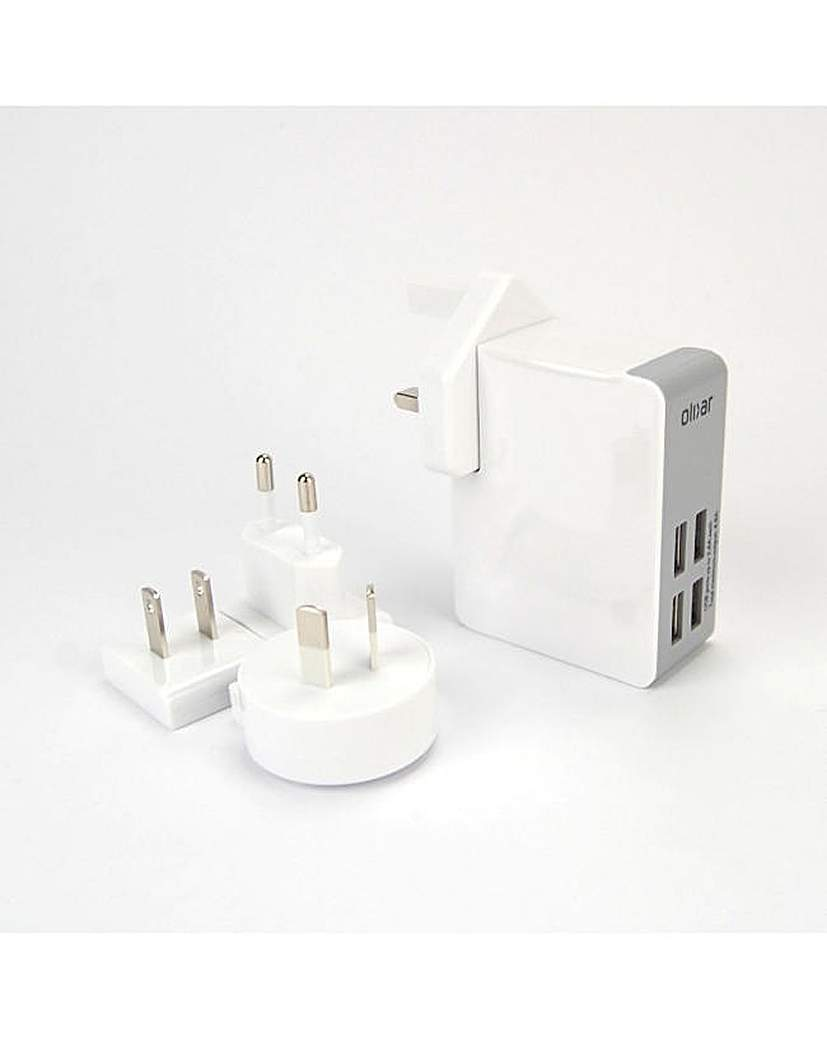 Olixar Travel Adapter with 4 USB Ports