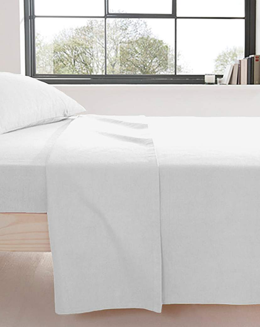 Image of Supersoft Flannelette Cotton Flat Sheet