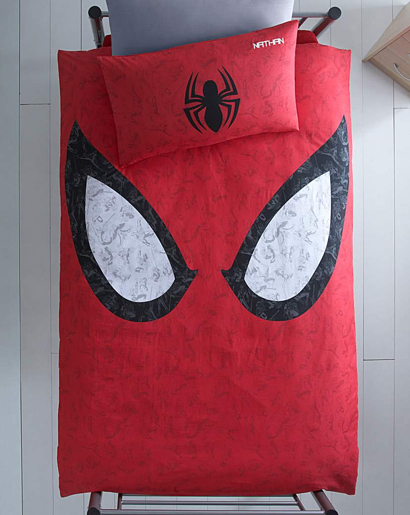 Image of Spiderman Personalised Panel Duvet Set