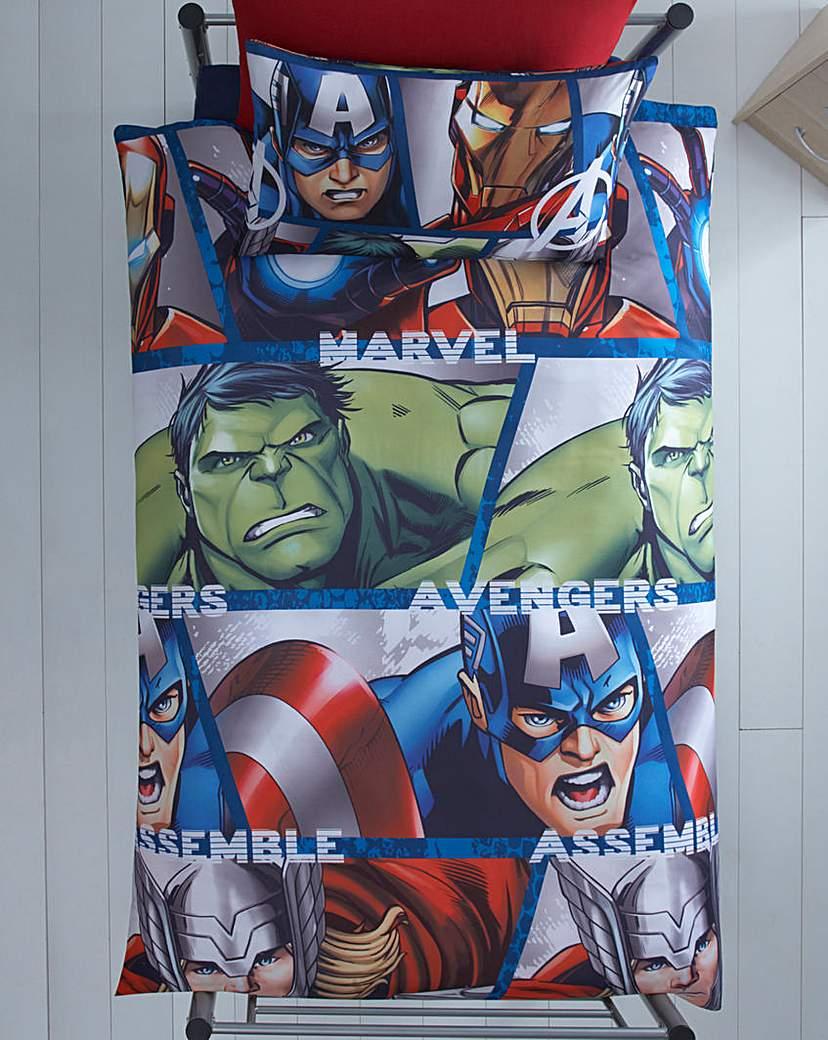 Image of Marvel Avengers Shield Duvet Covet Set