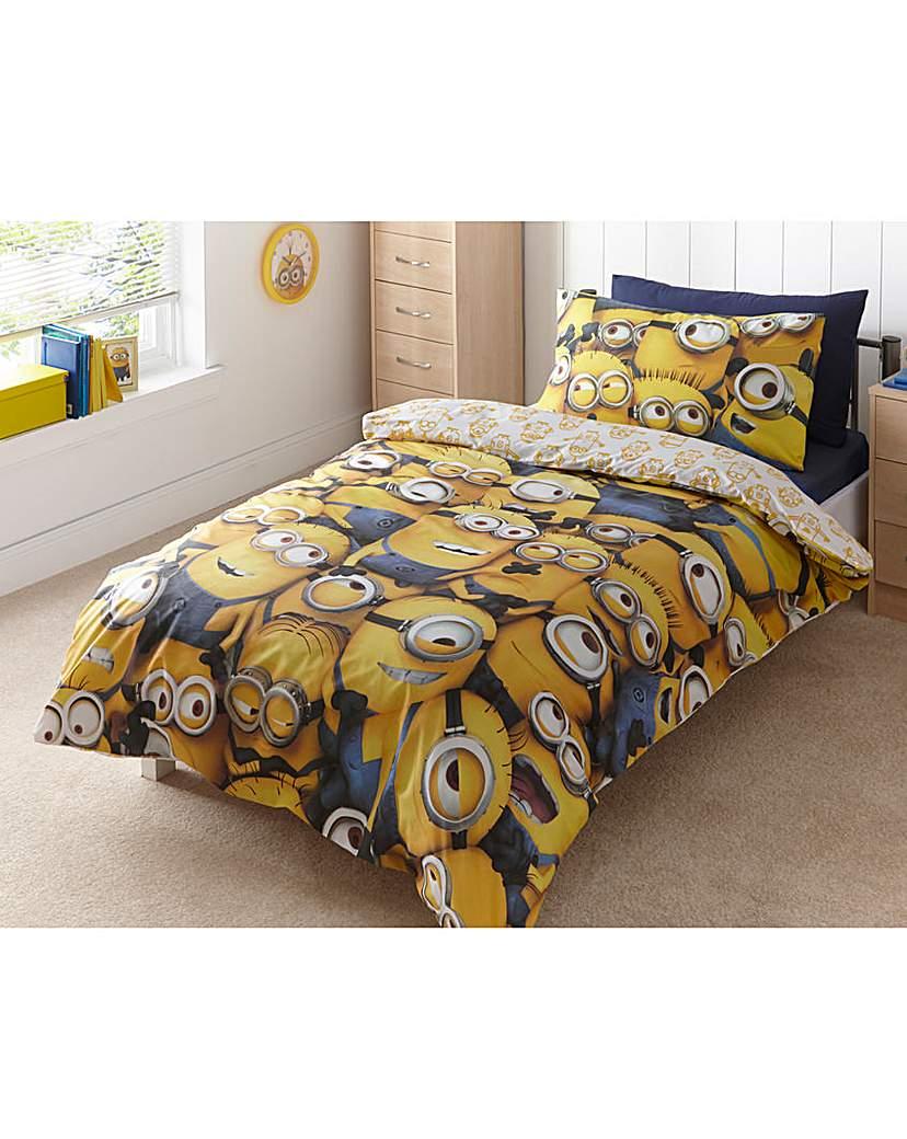 Image of Sea of Minions Panel Duvet Cover Set