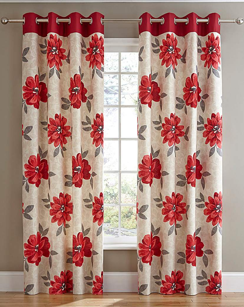 Image of Annabella Lined Eyelet Curtains