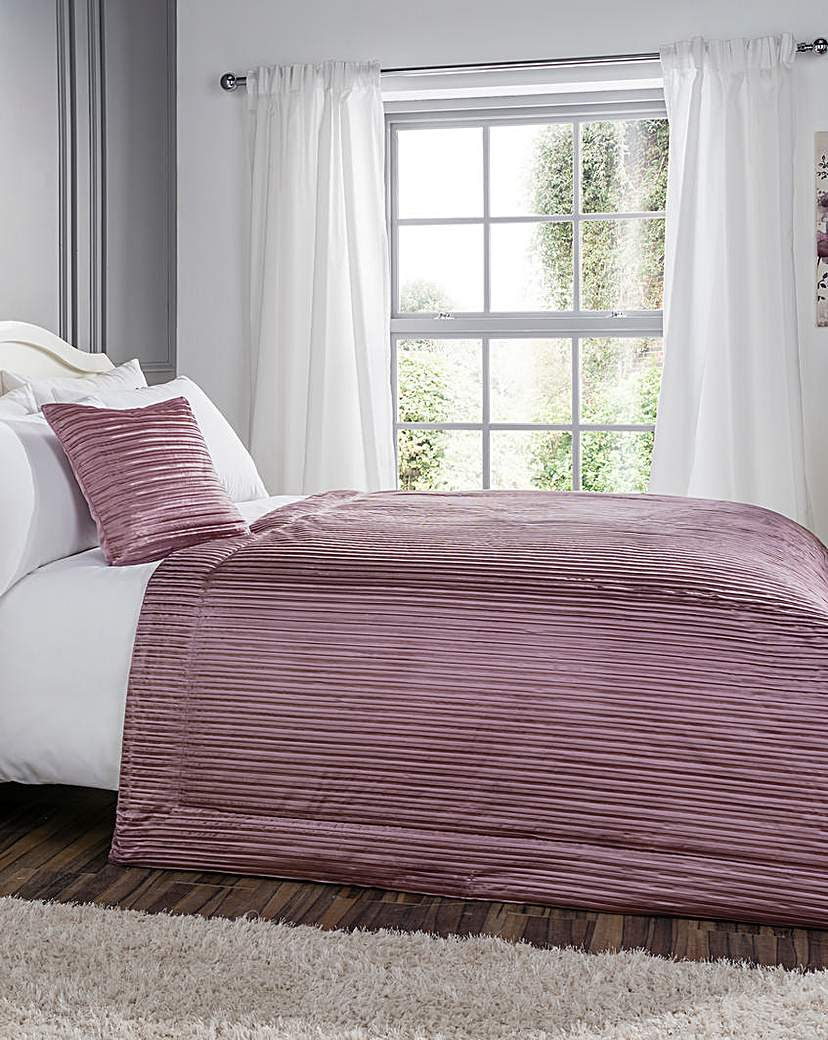 Image of Pleated Faux Silk Throw