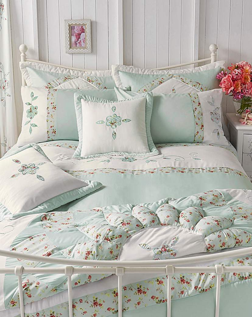 Image of Faye Embellished Duvet Cover Set
