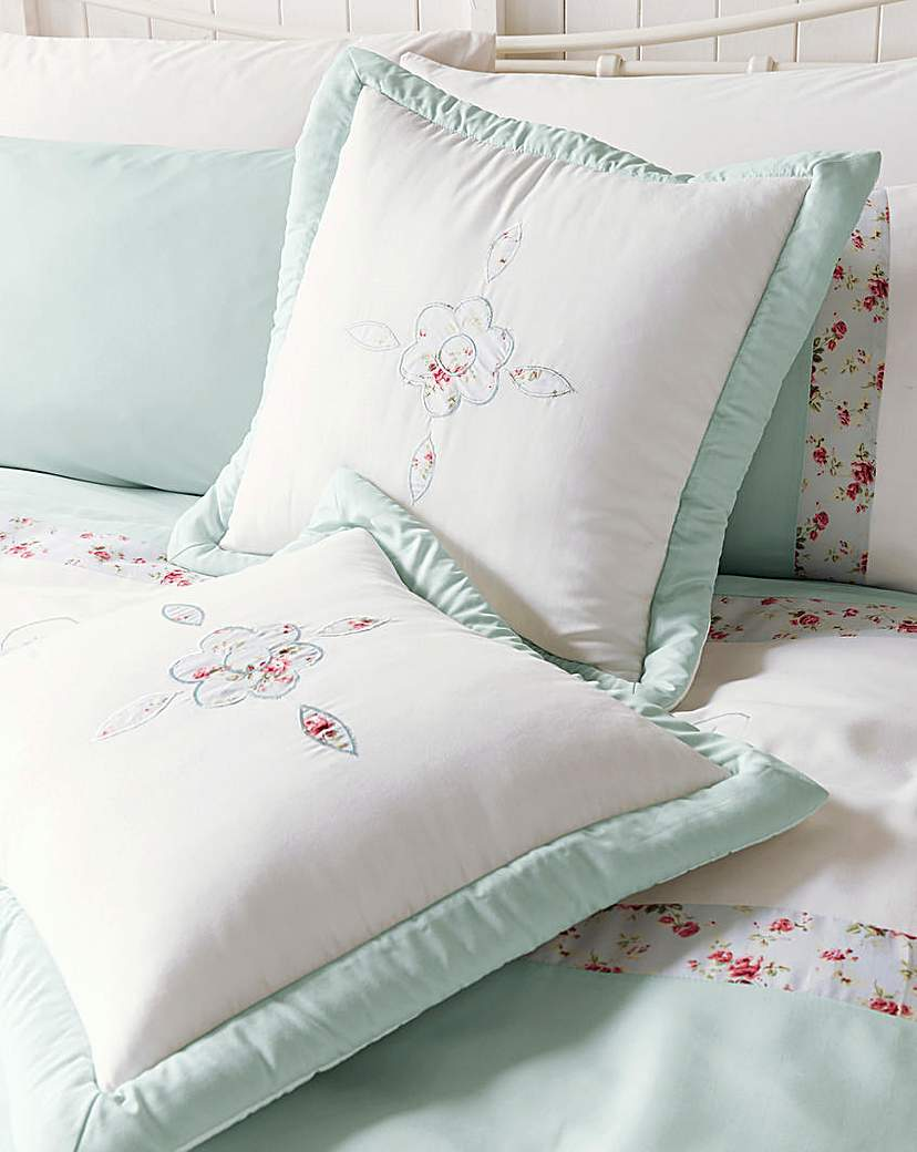 Image of Faye Embellished Pair Cushion Covers