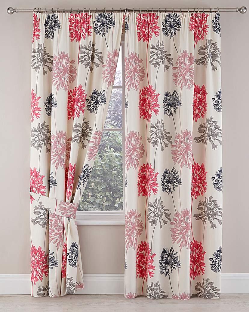 Image of Millie Floral Pencil Pleat Curtains