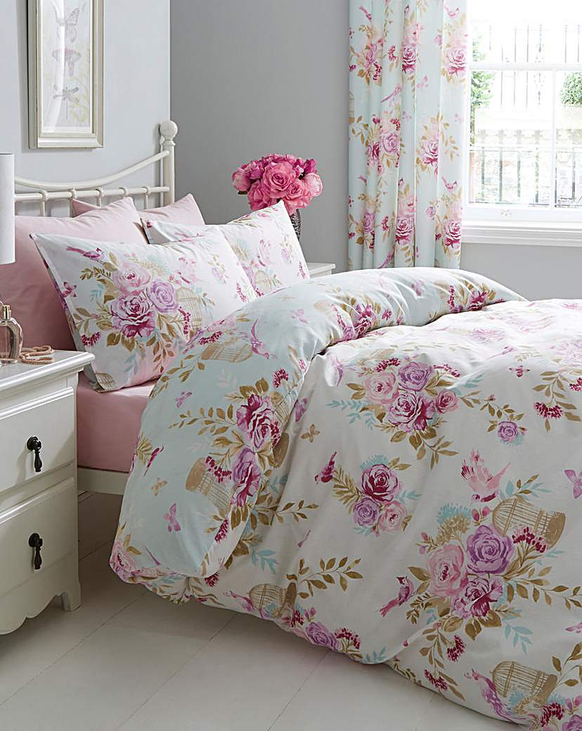 Image of Birdcage Blossom Duvet Cover Set