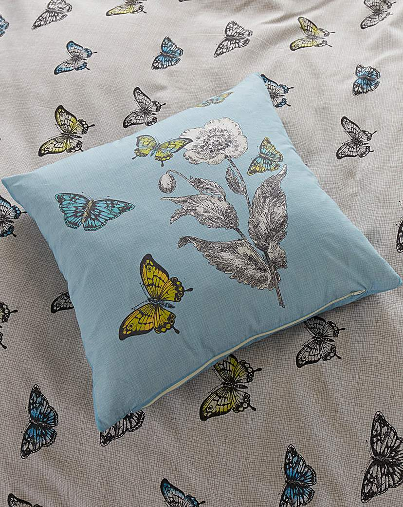 Aviana Butterfly Floral Square Cushion