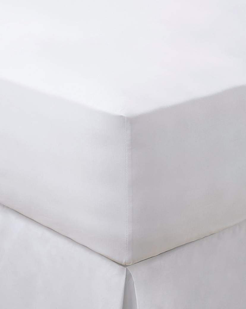 Image of 200 TC Plain Dyed Percale Fitted Sheet