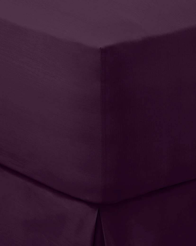 200 TC Plain-Dye Extra Deep Fitted Sheet.