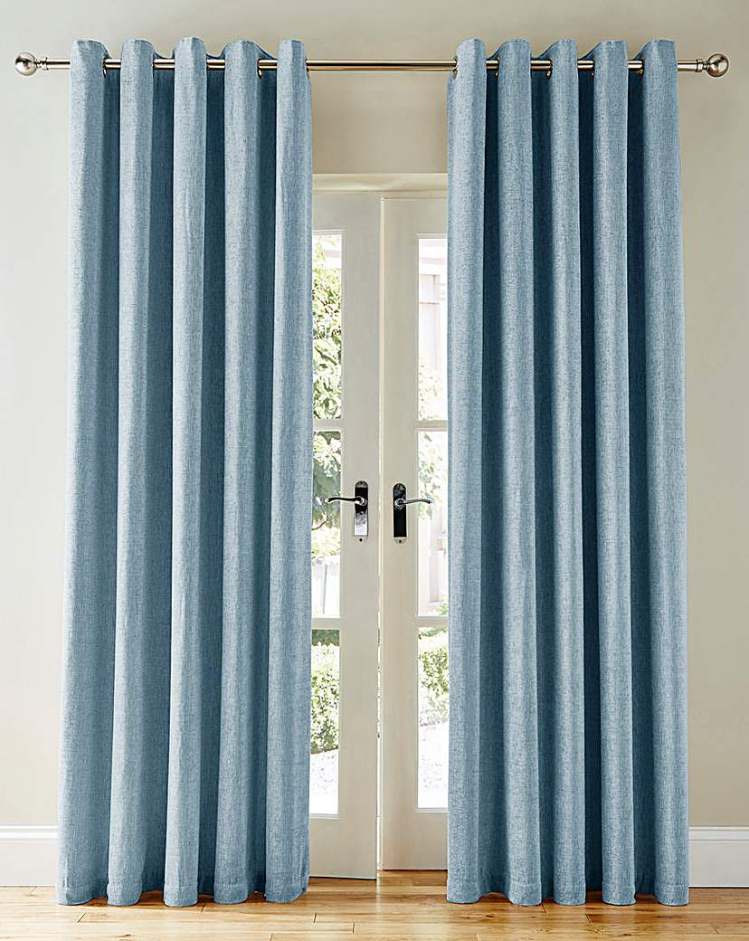 Sara Heavyweight Chenille Eyelet Curtain