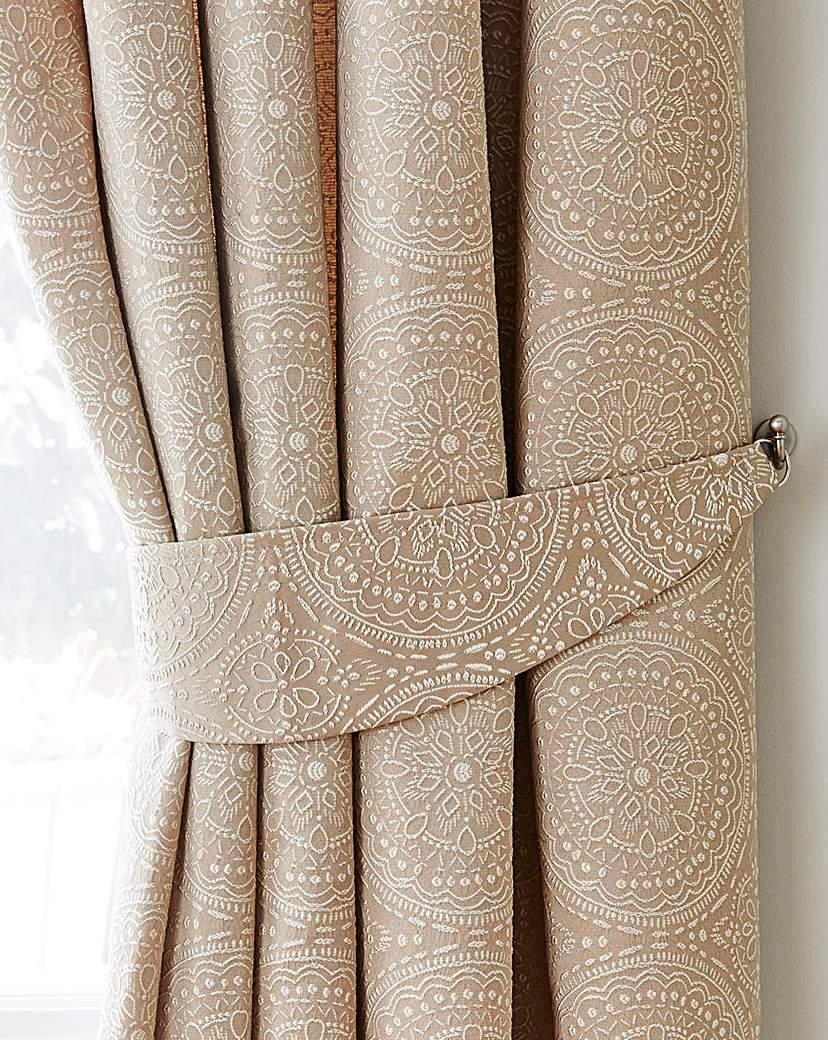 Image of Estow Textured Jacquard Tie-Backs
