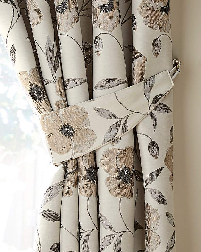 Image of Carmen Luxury Floral Jacquard Tiebacks