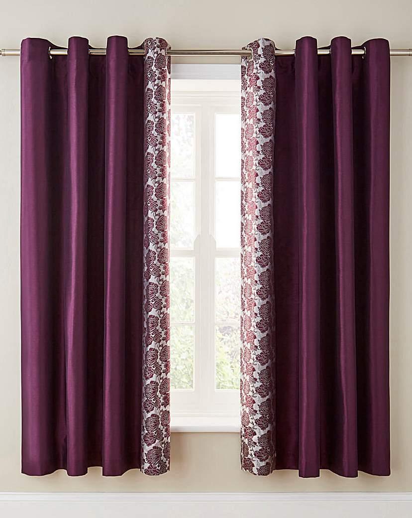 Image of Astrid Embellished Lined Eyelet Curtains