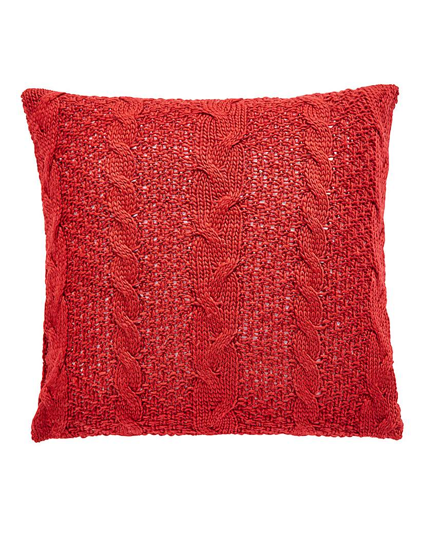 Image of Chunky Knit Filled Square Cushion