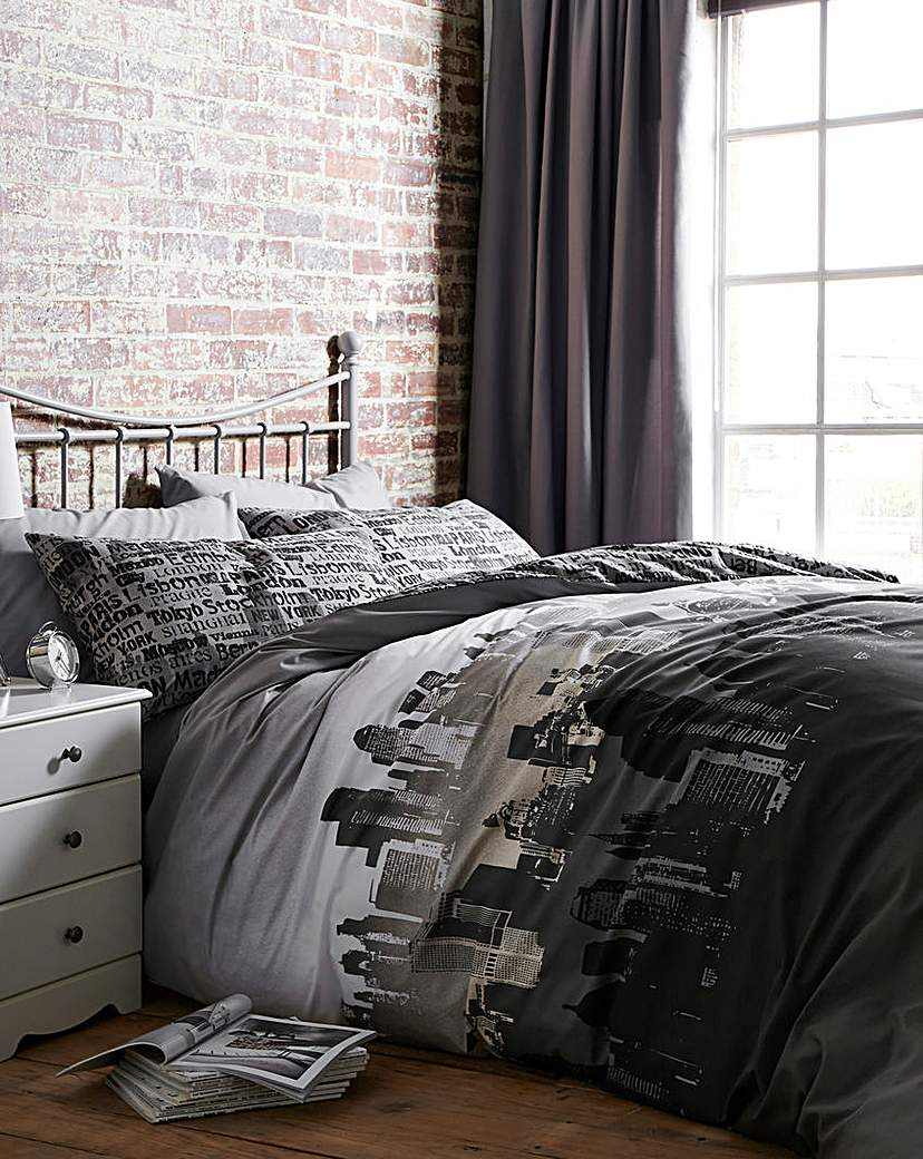 Image of City Scape Duvet Cover Set