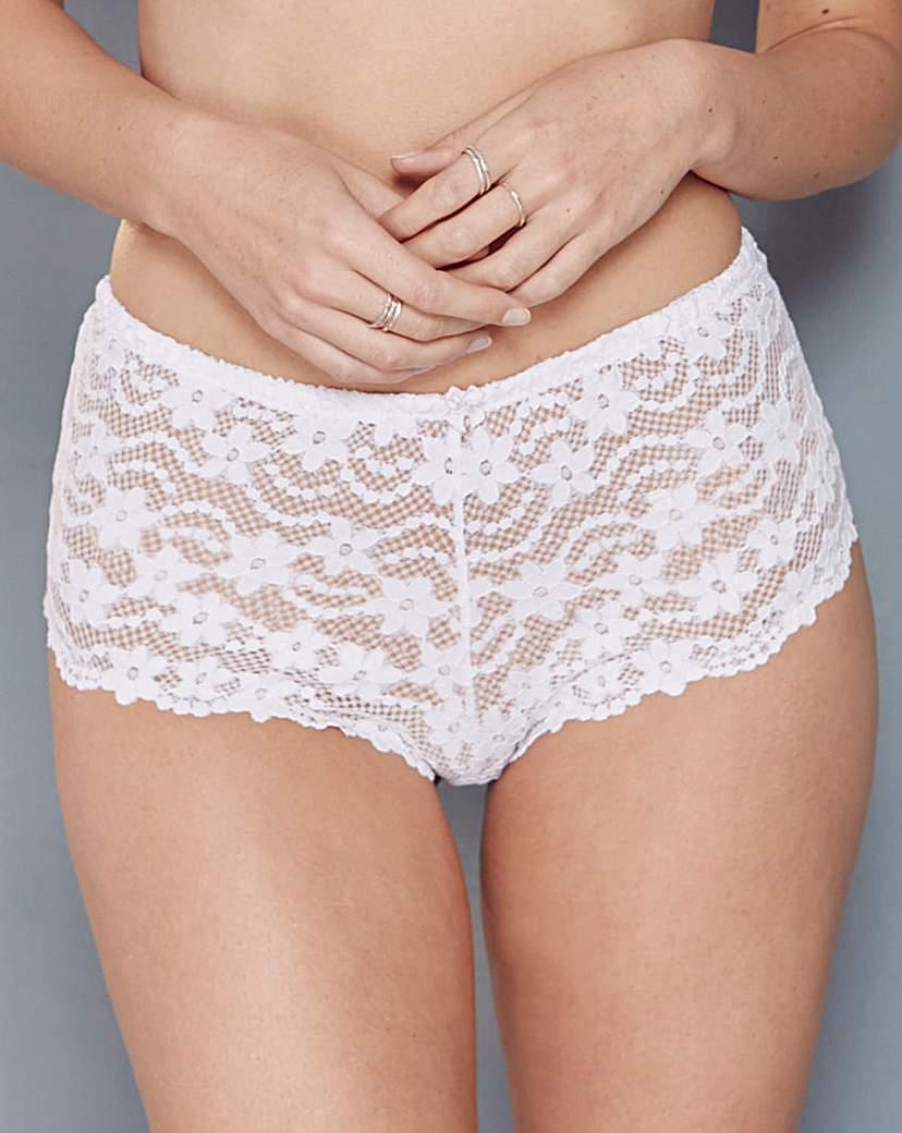 Daisy Lace White Shorts