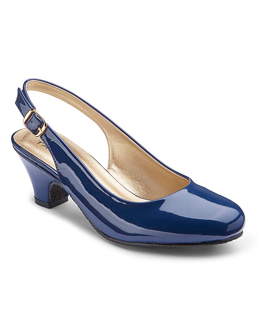 Heavenly Soles Slingback Shoes EEE Fit £25.00 AT vintagedancer.com