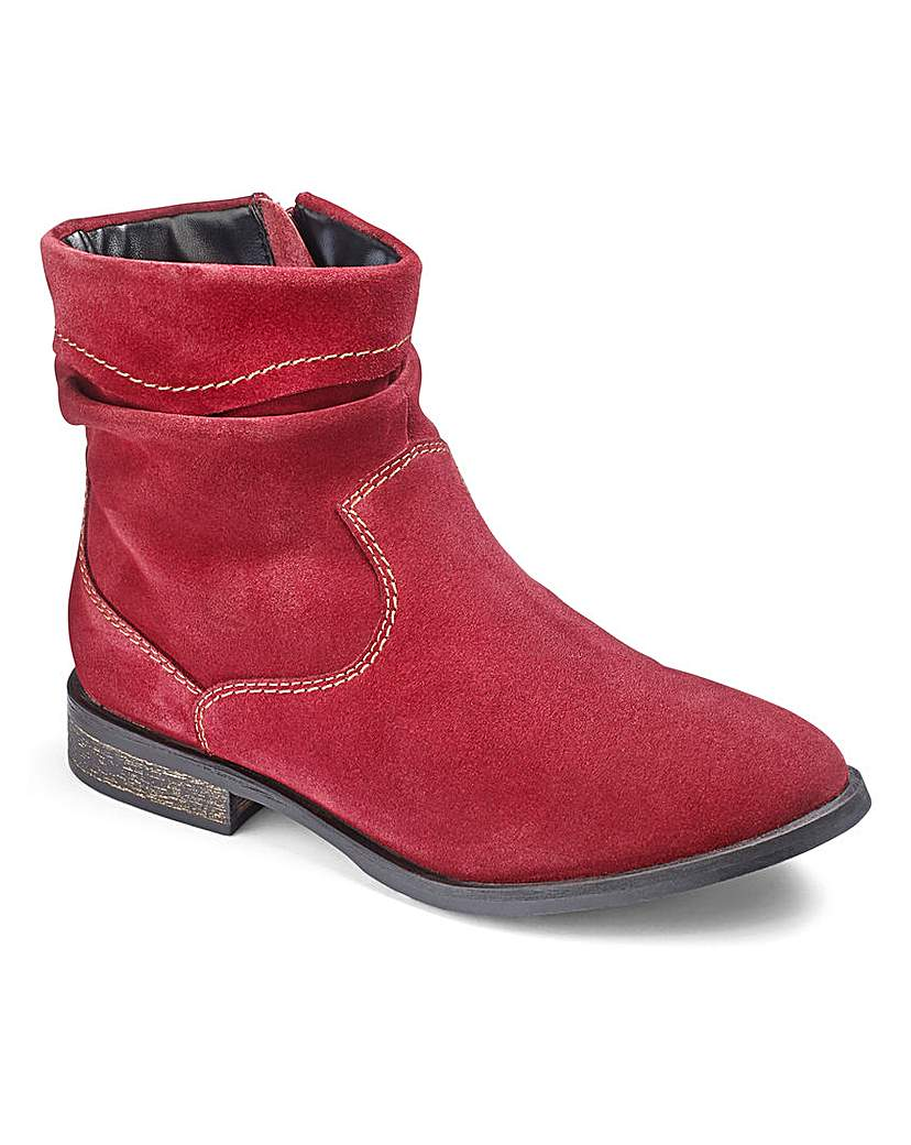 Brevitt Suede Ankle Boots EEE Fit