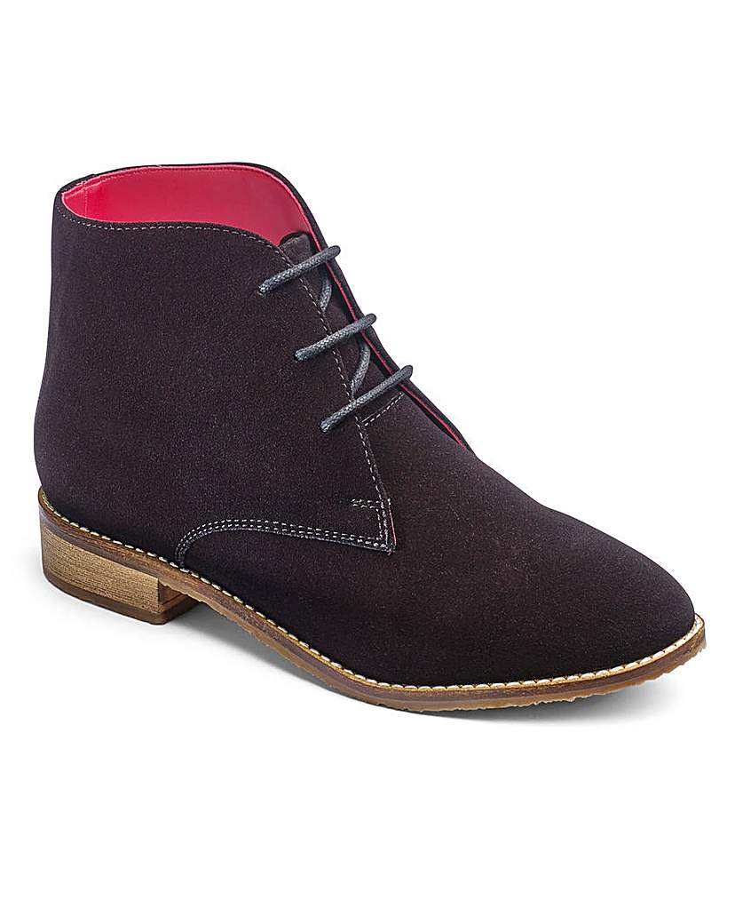 Image of Brevitt Suede Lace Up Boots E Fit