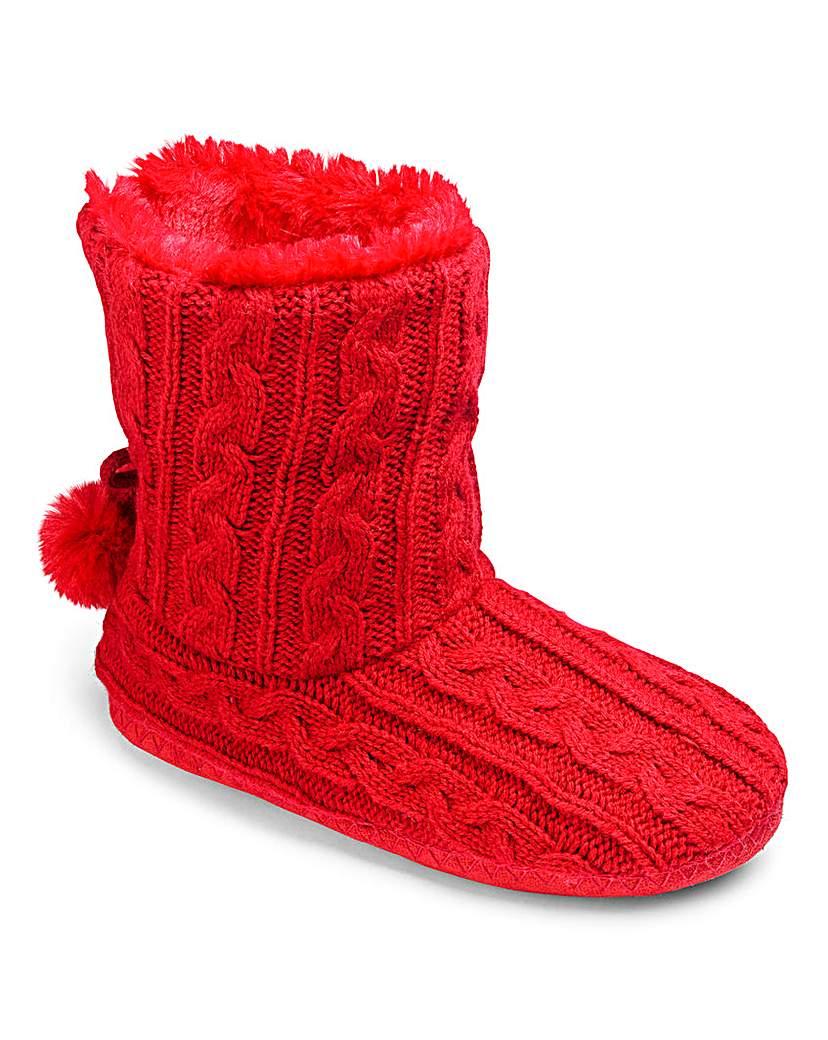 Heavenly Soles Knit Fold Slipper Boots